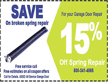 From Broken Spring Repairs To Garage Door Openers To A New Garage Door And  More, Get A Coupon And Save On Your Next Garage Door Service.